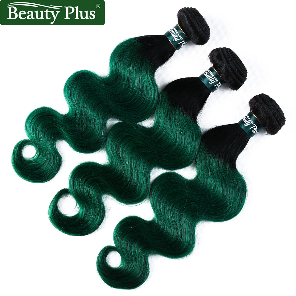 sexay green human hair bundles with closure (9)