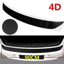 1PC 3D Carbon Fiber Auto Car Rear Bumper Trunk Sill Corner Protector Trim Guard Pad Styling Accessories
