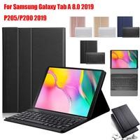 case samsung galaxy Slim Wireless Bluetooth Keyboard Foldable Stand Case   For Samsung Galaxy Tab A 8.0 2019 P205/P200 2019 BT Keyboard Case Cover (1)