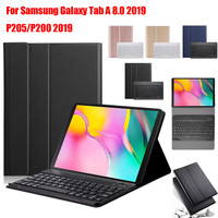 Slim Wireless Bluetooth Keyboard Foldable Stand Case For Samsung Galaxy Tab A 8.0 2019 P205/P200 2019 BT Keyboard Case Cover