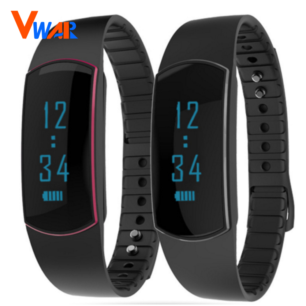 Vwar SH07 Sport Band Bluetooth Smart Watch Health Bracelet for iPhone Samsung HTC LG Sony Xiaomi