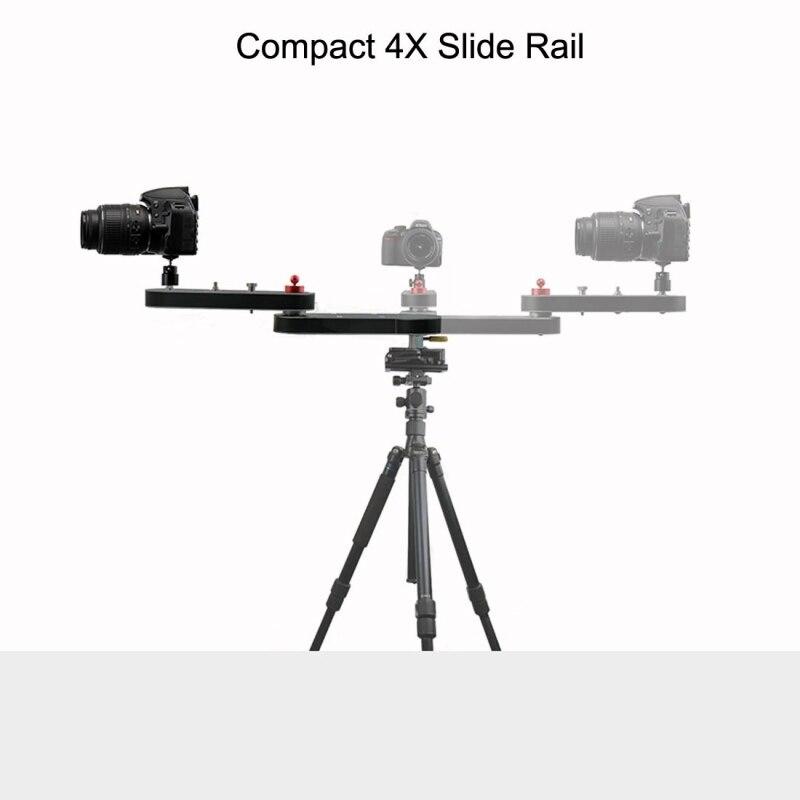 PULUZ Caméra Curseur Rail Piste Dolly 4X Coulissant Sur Rail Extension 70 cm Caméra Tir Stabilisateur Pour Nikon Gopro Accessoires