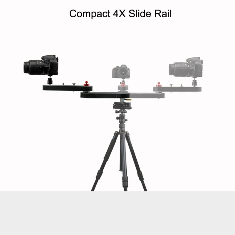 PULUZ Camera Slider Rail Track Dolly 4X Slide Rail Track Extension 70cm Camera Shooting Stabilizer For Nikon Gopro Accessories ronstan series 25 t track composite slide 102mm 4