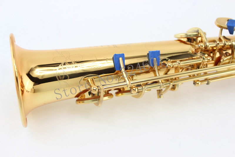 Mark VI B Flat Soprano Saxophone Straight Pipe Gold Lacquer Brass Sax Musical Instruments With Case Mouthpiece Free Shipping new soprano saxophone b flat playing professionally yss 475 soprano musical instruments soprano sax professional free shipping