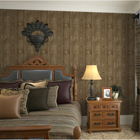 beibehang Retro Village Simulation Wooden Chinese Canteen Wooden Wallpaper Net Shop Barber Shop Club Wallpaper