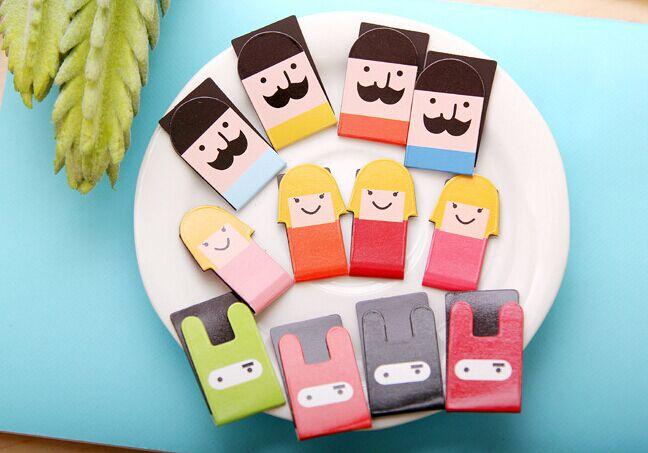 Cute Boy Girl Rabbit Magnetic Bookmark Fashion DIY Cartoon Paper  School Office Supply  For Book Gift  Korean Papelaria