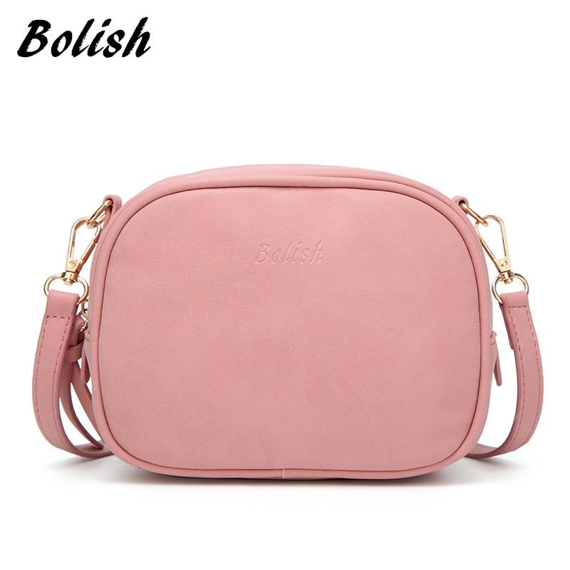 Bolish Soft Nubuck Ādas sieviešu Crossbody Bag modes pavasara un vasaras Sieviešu plecu soma maza pušķi Flap sieviešu soma