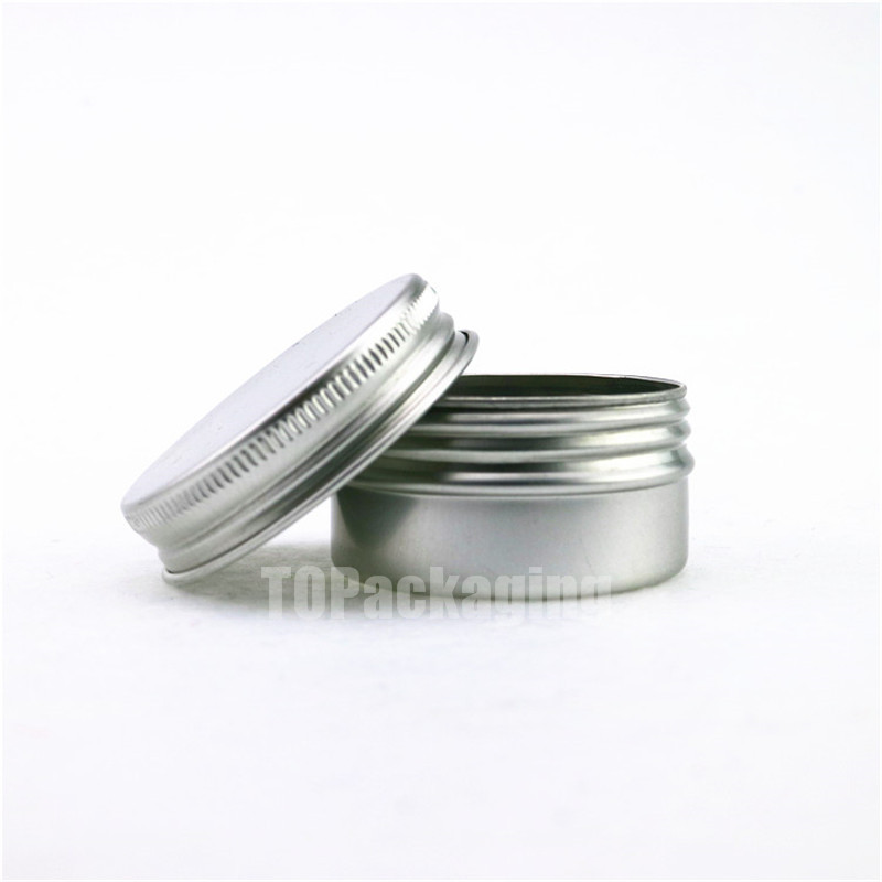 30G x 100 Aluminum  Jar,with screw cap Empty cosmetic container cream jar sample tin 30ml lip balm small metal pot Nail art cans-in Refillable Bottles from Beauty & Health    2
