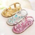 Verano sandalias de la princesa sandalias de las muchachas de moda rhinestone zapatos de los niños niñas rosa zapatos de los niños sandalias