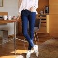 6 EXTRA GRANDE mulher de Jeans Mais Grossa de Veludo Calça Jeans de Cintura Alta mulheres Era Magro Sexy Skinny Jeans Stretch Pés calças de Brim Coreano Quente