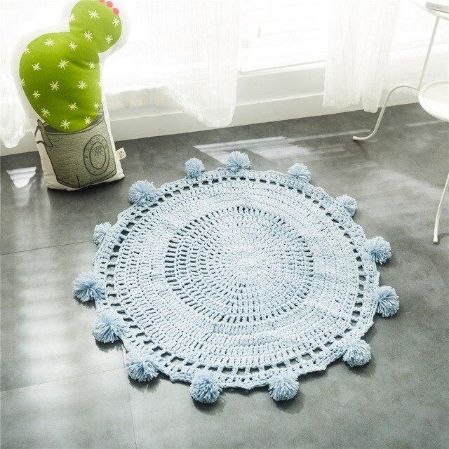 Nueva crochet alfombras redondas y alfombras para niños decoración ...