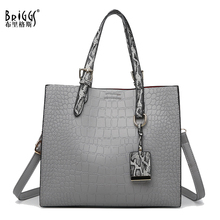 купить Top Sale Women Handbag PU Leather Shoulder Bag Vintage Women Bag Luxury Brand Alligator Ladies Hand bags Large Capacity Tote Bag по цене 1549.47 рублей