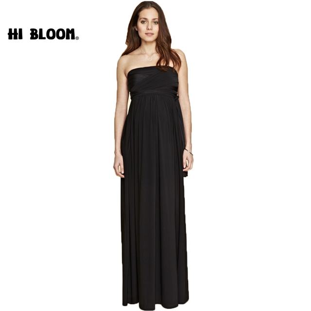 634c09dc949 Black Elegant Evening Party Long Dress For Pregnancy Women Maternity  Dresses Clothes Long Evening Gowns Office Lady Vestido