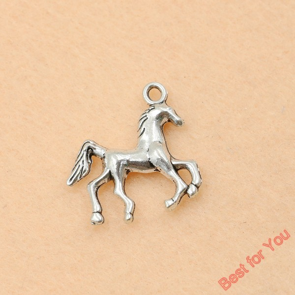10pcs Tibetan Silver Plated Horse Charms Pendants For Jewelry Making Diy Craft 23x22mm