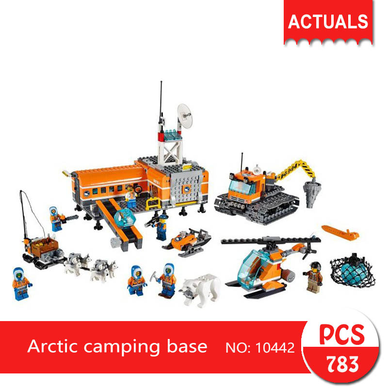 Lepin bela 10442 783Pcs City series Arctic camping base Model Building Blocks Set  Bricks Toys For Children wange Gift bela 10439 compatible lepin city arctic helicrane building blocks policeman figure toys for children girls