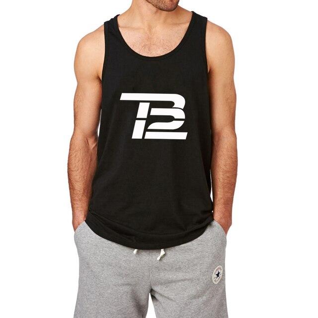 Loo Mostrar Tom Brady TB12 Entrenamiento Graphic Tank Tops hombres