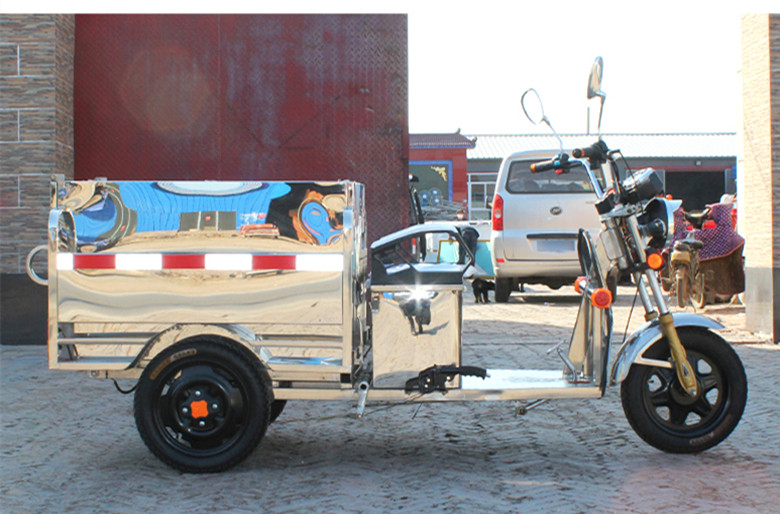 TJ-QL-HBC- stainless steel electric tricycle sanitation trucks cleaning car garbage collection vehicle