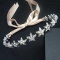 Headbands Da Fita Da Pérola da Festa de casamento da Estrela de Cristal Tiara de Noiva Cabelo de Noiva Jóias Mulher Meninas Crianças Acessórios Para o Cabelo