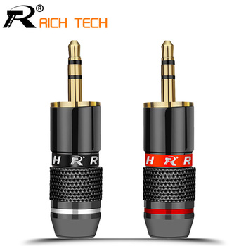 3.5mm Jack 3 pole Audio Plug Gold-plated Earphone Adapter For DIY Stereo Headset or Used for Repair - discount item  15% OFF Electrical Equipment & Supplies