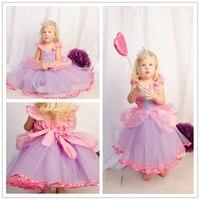 Retail New 2015 Cute Girls Cartoon Cinderella Princess Dress Children Summer Dresses Kids Fashion Dress Girl