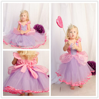 Retail New 2015 Cute Girls Cartoon Cinderella Princess Dress Children Summer Dresses Kids Fashion Dress Girl