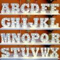 """16 CM 6.2 """"Branco Alfabeto Letras Do Alfabeto em Madeira Inscreva-se Letreiro LED Night Light Table Top de Casamento Decoração Do Feriado LEVOU iluminação"""
