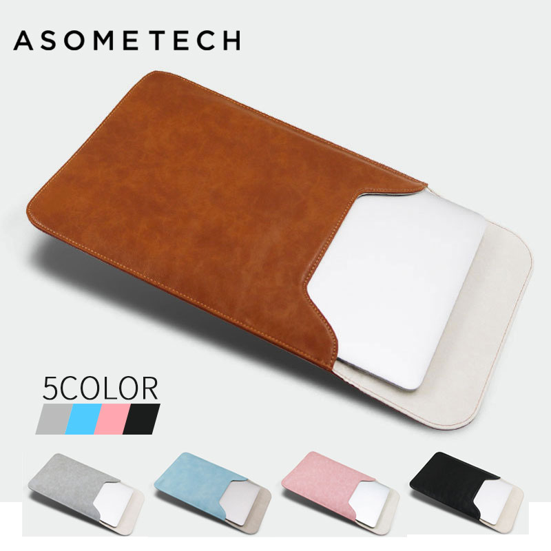 New PU Leather Laptop sleeve pouch bag 11.6 13.3 15.4 inch anti stratches cases for Macbook air pro 13.3 xiaomi Lenovo samsung