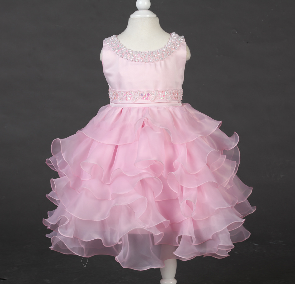 d3f9ff00b girls dresses summer 2015 White wedding flower girl Princess tutu ...
