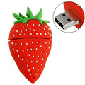 Hot Sale Cartoon Strawberry USB Flash Drive  Pendrive 4GB 8GB 16GB USB Stick External Memory Storage Pen Drive