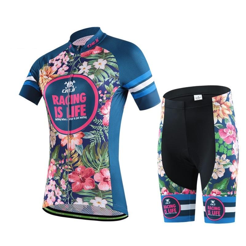 Prix pour 2017 cycling Team set vêtements de cyclisme Femmes ropa ciclismo d'été vêtements de balade à vélo à manches courtes Jersey vélo de route vélo Jersey