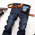 2016 Mens Brand Stretch Warm Winter Jeans Brand Jeans Large Plus Size Designer Cotton Stretchy Pants Trousers Blue Denim