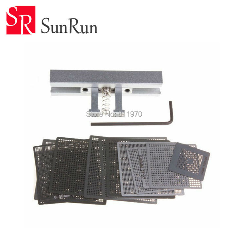 27pcs BGA Directly Heat Reballing Universal Stencils with Template Jig For SMT SMD Chip Rework Rpair 500pcs 0402 1005 47nh chip smt smd multilayer inductors