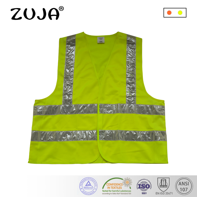 Safety Vest Yellow Mesh Vest Traffic Fluorescent light PVC TapeSafety Vest Yellow Mesh Vest Traffic Fluorescent light PVC Tape