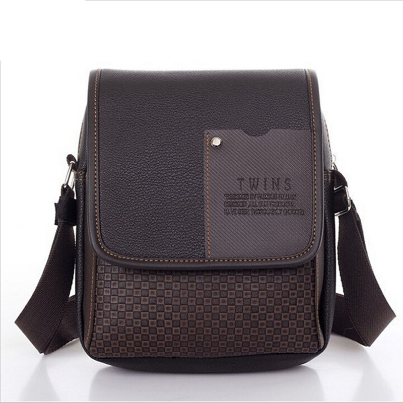 New 2018 Hot Sold Men's Messenger Bag & Men Travel Bag Plaid Small Business PU Leather High Quality Crossbody Casual Men Bag jason tutu promotions men shoulder bags leisure travel black small bag crossbody messenger bag men leather high quality b206