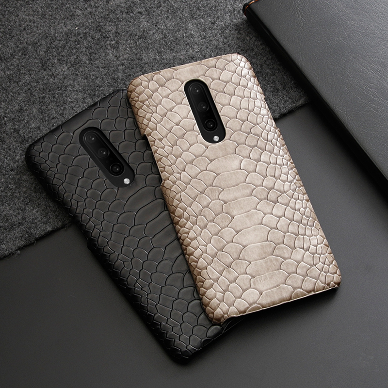 for Oneplus 7 Pro Case Snake Skin PU <font><b>Leather</b></font> Back Case for Oneplus 6 7 Fashion Vintage <font><b>Leather</b></font> <font><b>Cover</b></font> for <font><b>One</b></font> <font><b>plus</b></font> <font><b>6T</b></font> image