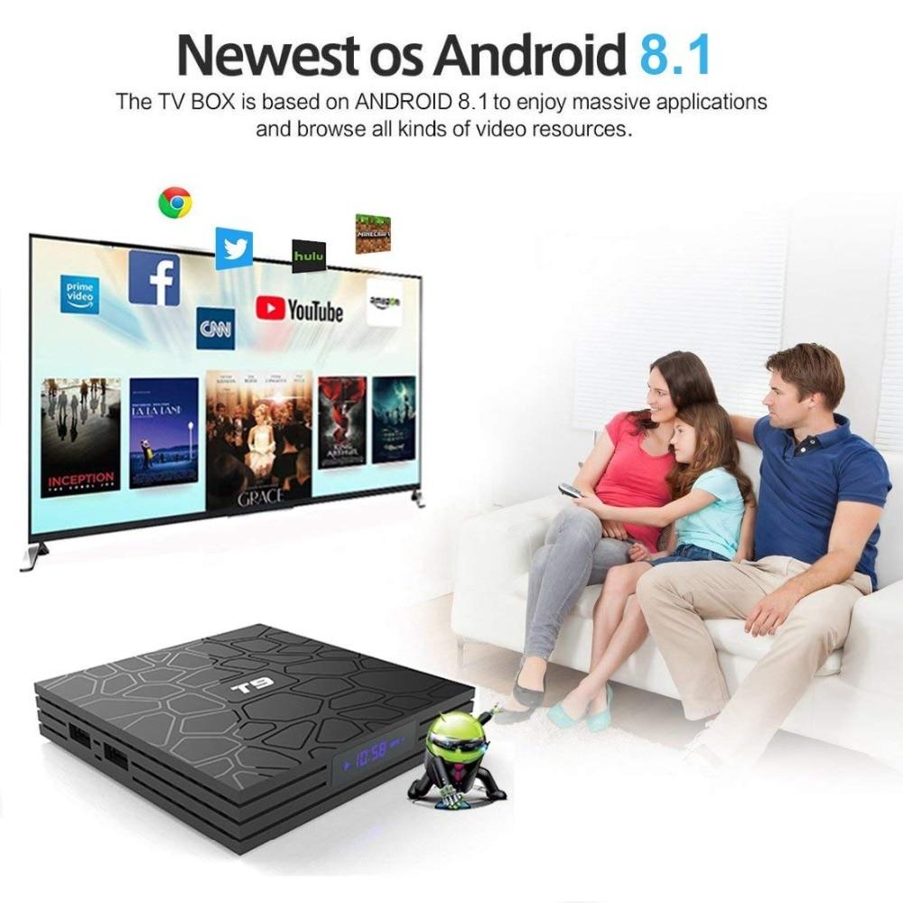 2018 T9 TV Box Android 8.1 8 1 4GB 32GB Smart TV prefix Rockchip RK3328 1080P H.265 4K Google Play Netflix media player2018 T9 TV Box Android 8.1 8 1 4GB 32GB Smart TV prefix Rockchip RK3328 1080P H.265 4K Google Play Netflix media player
