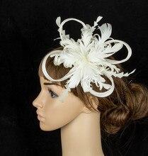 De múltiples colores de moda headwear fascinator sinamay sombreros de flores de plumas traje de celada de la boda de eventos para todas las estaciones TMYQ080