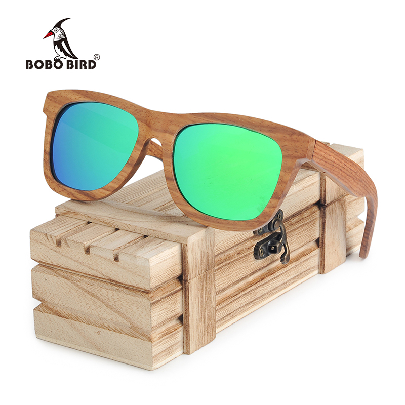 BOBO BIRD Square Sunglasses Men Women Retro Polarized Wood Sun Glasses gafas de lujo de hombre