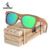 BOBO pájaro cuadrado gafas de sol hombres mujeres Retro polarizado gafas de sol de madera gafas de lujo de hombre