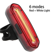 Bike Bicycle Taillight 5 Color Light USB Rechargeable Waterproof MTB Road Tail LED Lights Accessories For