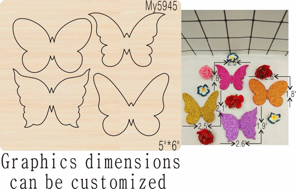 Butterfly new wooden mould cutting dies for scrapbooking Thickness 15 8mm