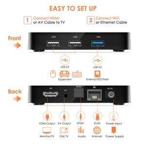 Image 5 - Nuevo q4 Plus caja de TV inteligente Android 9,0 4 GB + 64 GB RK3228 Quad Core WIFI 2,4G 4 K 3D HK1mini Google Netflix Set Top Box