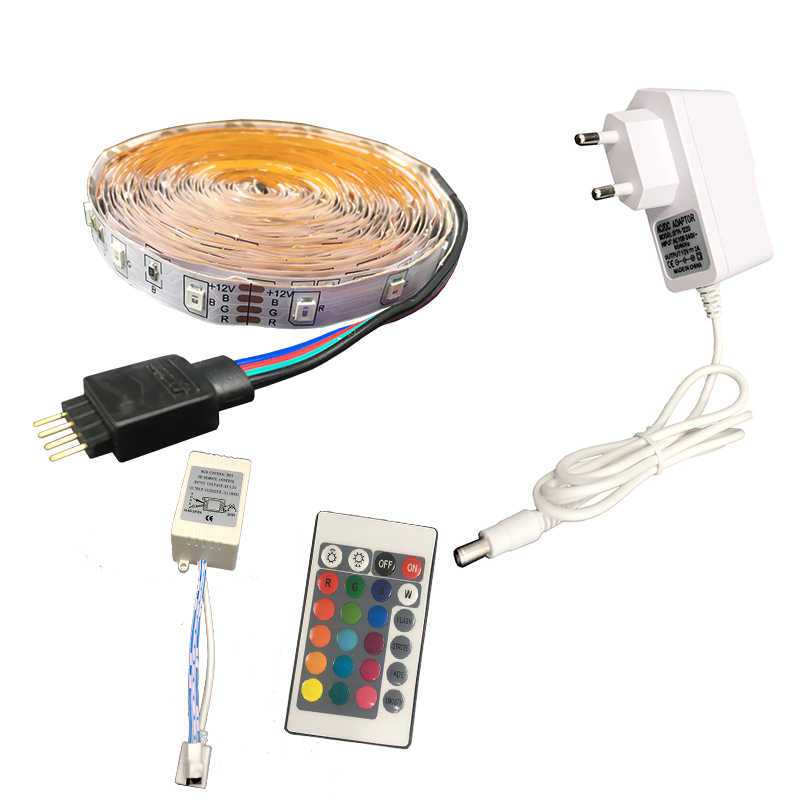 5M Led Strip Light 3528 DC12V 60led/m Led Flexible Light Lamp Ribbon Tape Waterproof RGB White Warm White Blue Green Red