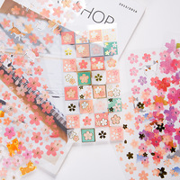 2018 New Colorful Flowers Wreath Paper Sticker Package DIY Diary Decoration Sticker Album Scrapbooking Kawaii Stationery Stationery Stickers
