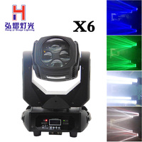 6 pieces 4x25W Colorful 9/15CH 130W LED Super Beam Moving Head Light With 4 in 1 rgbw led disco club light stage dj lighting