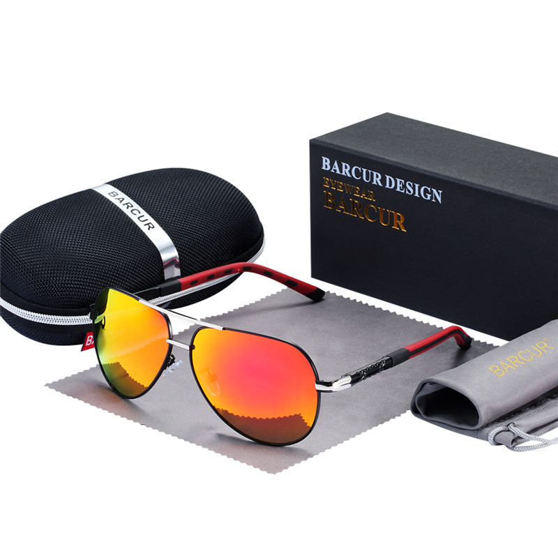BARCUR Fashion Glasses Hot Style Men sunglasses Polarized UV400 Protection Driving Sun Glasses Male Oculos de sol 8