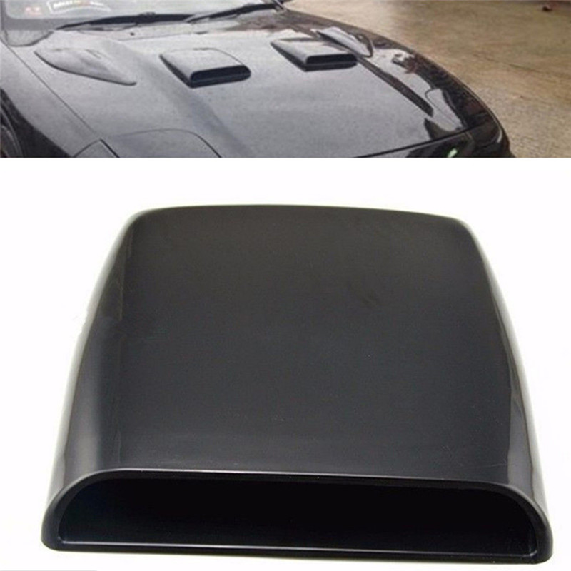 Silver/white/black Universal Decorative Air Flow Intake Scoop Turbo Bonnet Vent Cover Hood Car Styling
