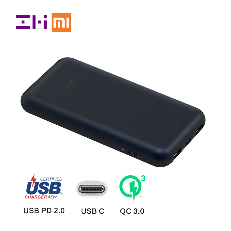 034fb3467dfdad Xiaomi ZMI 20000mAh USB-C Power Bank USB PD 2.0 Power Delivery Quick Charge  3.0 with Type-C Charger for Macbook Mi laptop
