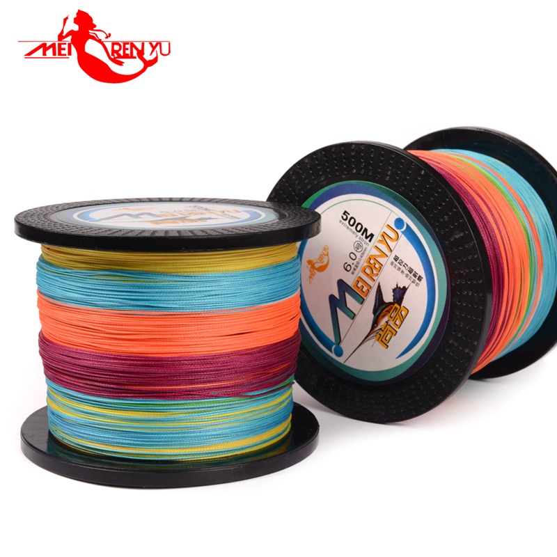 SEEKBASS 300M 500M Super PE 8 stands Colorful Braided Multifilament Fishing <font><b>Line</b></font> 10LB 30LB 40LB 60LB Brand Braided <font><b>Line</b></font> Fishing