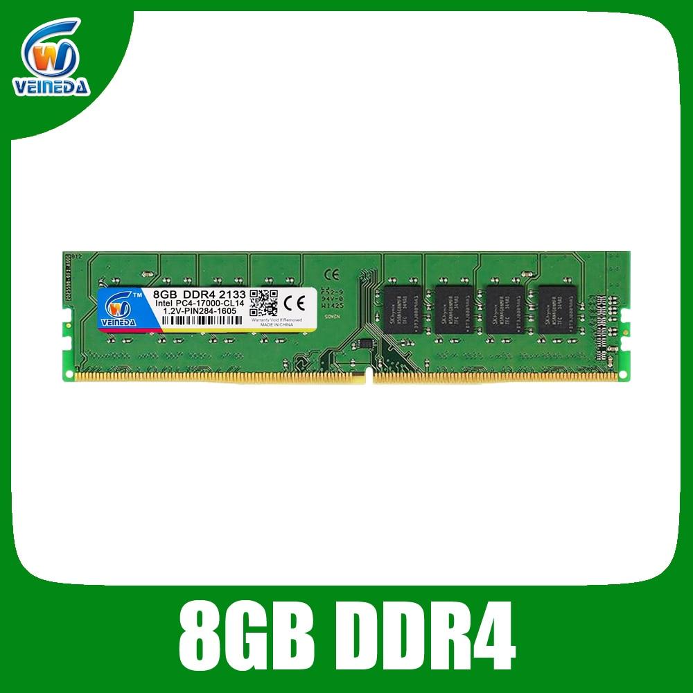 VEINEDA bureau ram DDR4 8 gb mémoire ram dimm ddr 4 2133 Pour Intel AMD mobo PC4-17000 284pin